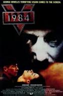 1984 - double featured with V FOR VENDETTA poster