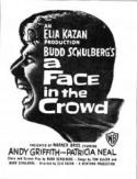 A Face in The Crowd - double featured with ALL THE PRESIDENTS MEN poster